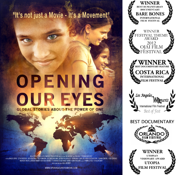 Opening Our Eyes Movie Poster with film festival laurels