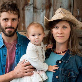 Portrait of organic farm family.