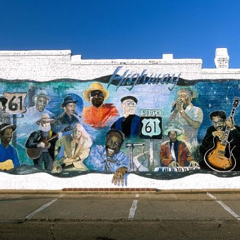 Blues mural, Leland, MS