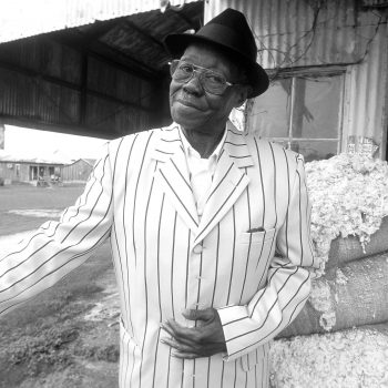 B&W portrait of Pinetop Perkins, Hopsons Plantation, Clarksdale, MS