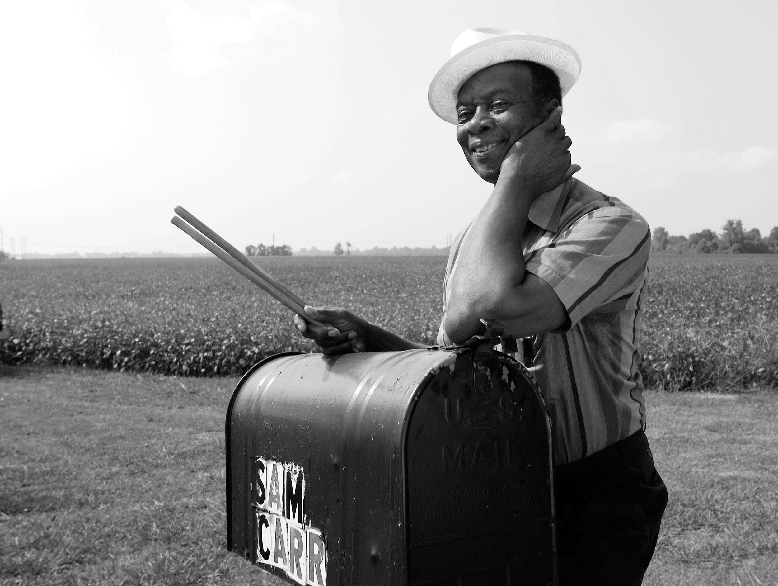 Sam Carr, blues drummer from Lula, Mississippi