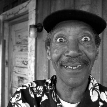 "B&W portrait of Willie ""Big Eyes"" Smith, Hopsons Plantation, Clarksdale, MS"