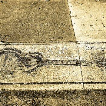Imprint of B.B. King's guitar, Indianola, MS