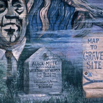 Mural of Sonny boy Williamson's grave, Tutwiler, MS