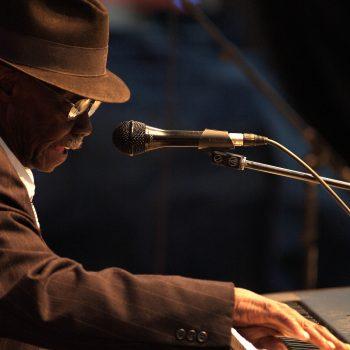 Blues musician, Pinetop Perkins at King Biscuit Blues Festival, Helena, Arkansas