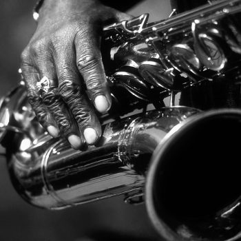 Eddie Shaw and saxophone, Chicago Blues Festival, Chicago, IL