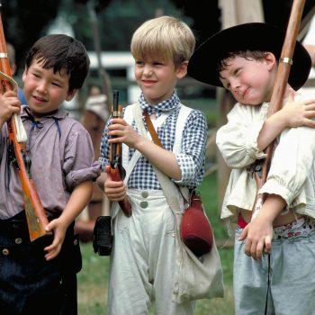 Young boys in colonial attire, Bucks County, PA