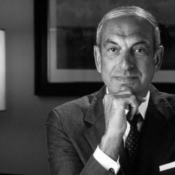 B&W portrait of male CEO.