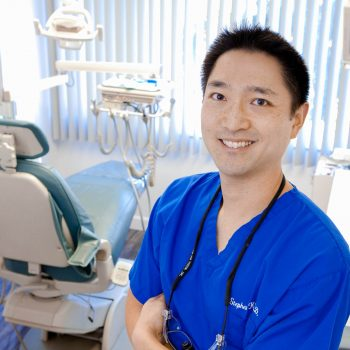 Portrait of Asian male dentist.