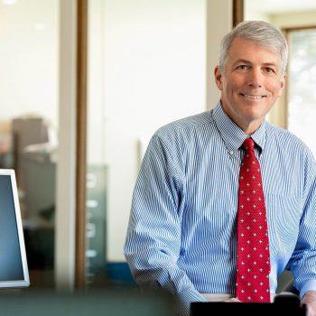 Portrait of male business executive.