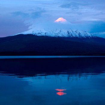 Sunset on Osorno Volano, Chili