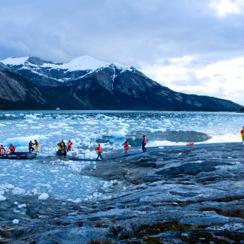 Boarding a Zodiac, Patagonia, Chili