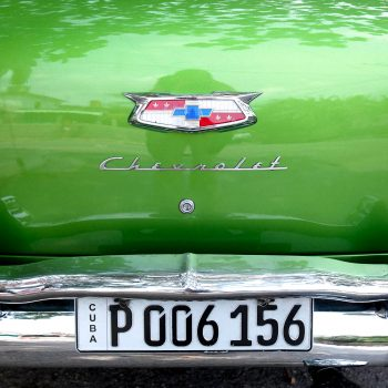 Trunk of classic American car, Havana, Cuba