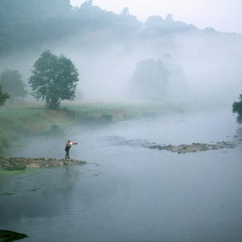 Fly fishing on River Nore, Ireland