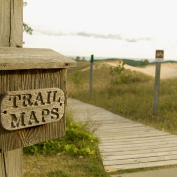 Trail sign, Sleeping Bear Dunes National Park, Michigan