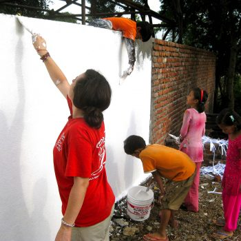 Volunteers at Kopila Childrens Home, Surkhet, Nepal. Opening Our Eyes Movie.