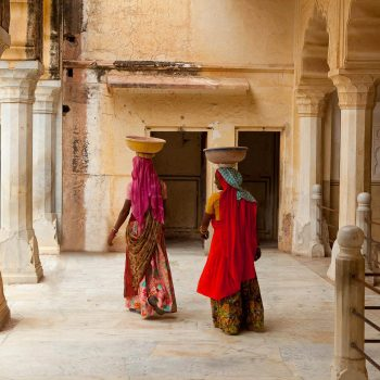 Woman at Red Fort, Jaipur, India. Opening Our Eyes Movie.