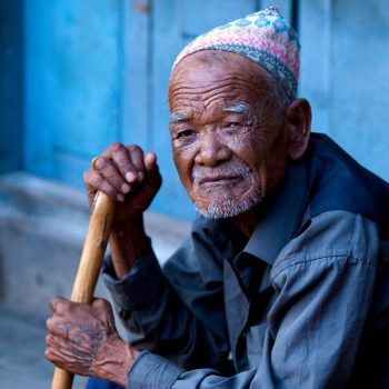 Old man, Kathmandu, Nepal. Opening Our Eyes Movie.