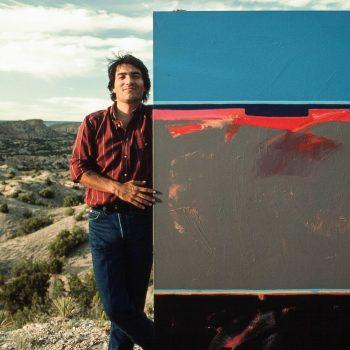 Native American artist Dan Namingha, Santa Fe, NM