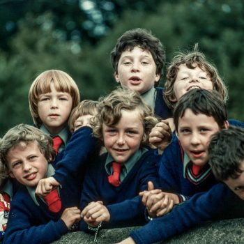 School boys in uniform, Blarney, Ireland