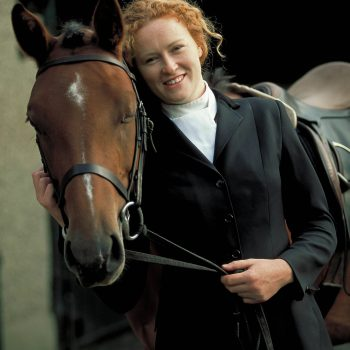 Red headed woman with horse, Kilkenny, Ireland