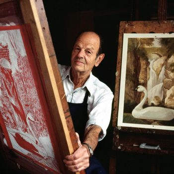 Portrait of artist, Allen Saalburg, Bucks County, PA