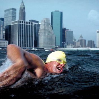 Marathon swimmer, East River, New York, NY