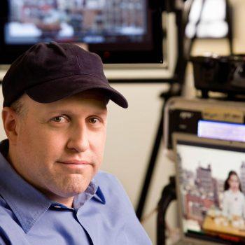 Portrait of TV editor.