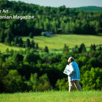 Woman with painting, Vermont