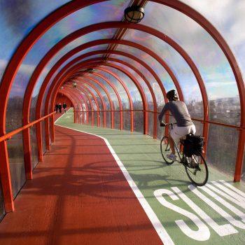 Bicycle and pedestrian bridge, Glasgow, Scotland